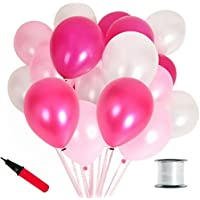 JINSELF 【あんしん極厚風船】 100個セット キラキラ光沢 誕生日 結婚式 飾り 装飾 空気入れ