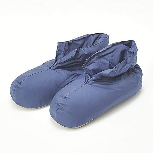 [グンゼ] ルームシューズ ウチコレ バウンドヒータープラス ブーツタイプ AUJ011 メンズ ネービー 日本 25-27 (日本サイズM-L相当)