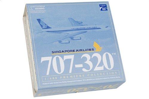 1:400 ドラゴンモデルズ 55809 ボーイング 707-320 ダイキャスト モデル シンガポール 航空 9V-BEY w/コレクター Tin【並行輸入品】