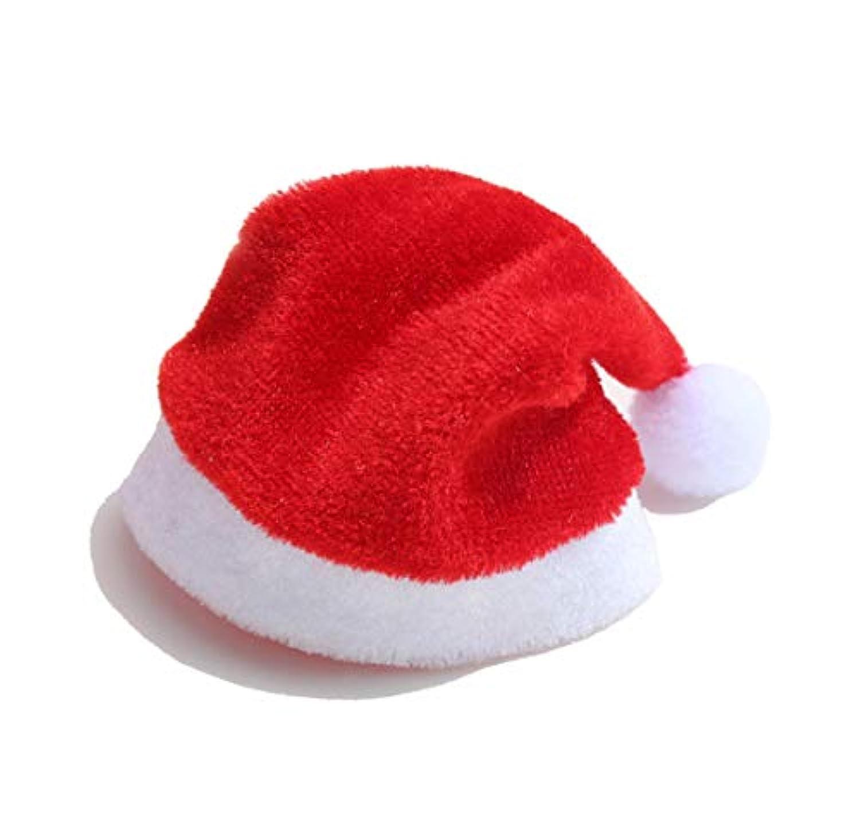 JuSir ミニクリスマスサンタの帽子 カップ ワインボトル ラグドール バービーの装飾用 (10個セット) 4.3 x 2.7 x 0.2