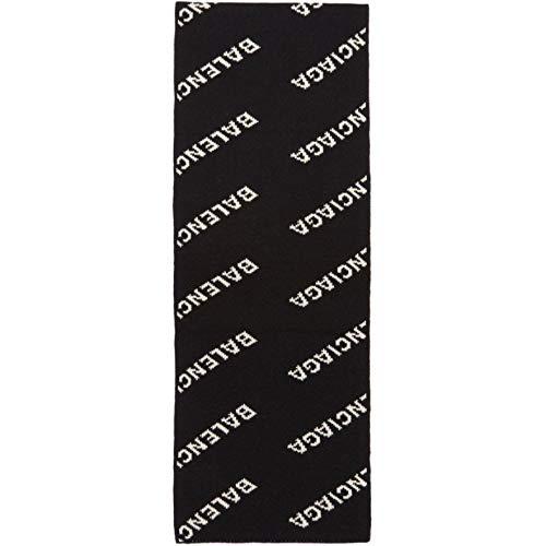 (バレンシアガ) Balenciaga メンズ マフラー・スカーフ・ストール Black All Over Logo Scarf [並行輸入品]