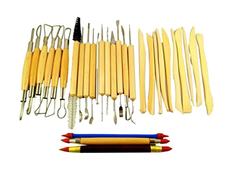 陶芸 小道具 粘土細工 模型 フィギア製作などに 便利な道具 30本 セット