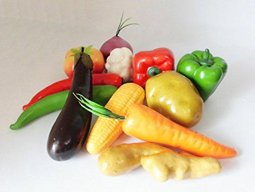 食品サンプル 野菜 ベジタブル 飾り ディスプレイ たっぷり 12種類セット/V440