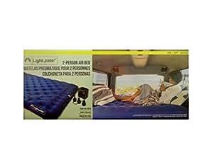 LightSpeed Outdoors 2 Person Air Bed ライトスピード アウトドア エアーベッド 2人 電動空気入れ付 大人 2人用 ダブル クイーン 車中泊 アウトドア 来客用 キャンプ