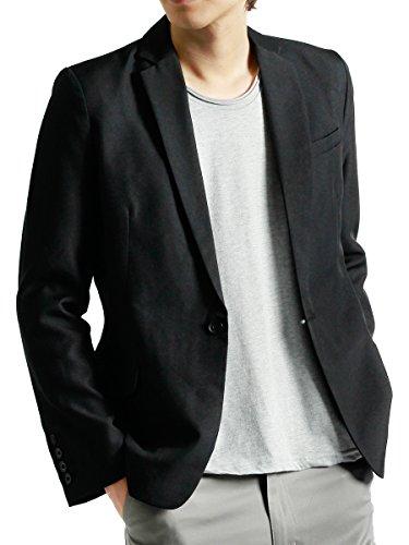 (モノマート) MONO-MART 1つボタン テーラードジャケット テイラード ジャケット デザイナーズ メンズ ブラック Mサイズ
