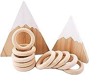 Baby Firstlook 木製リング ウッドリング 無塗装 56mm/10pc 手作り ガラガラ ラトル おもちゃ 知育玩具 出産祝い