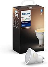 Philips Hue White Ambiance LED Smart Spot Light  GU10 (Latest Model, Compatible with Bluetooth, Amazon Alexa,