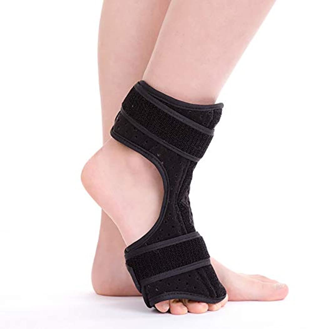 摂動ドナウ川理想的には足ドロップブレース足首サポート足首装具ブレース膝関節サポート弾性足首ラップ足首ブレース&アーチサポート、速い痛みの軽減