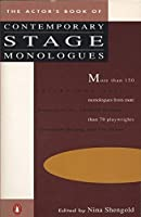 The Actor's Book of Contemporary Stage Monologues: More Than 150 Monologues from More Than 70 Playwrights by Unknown(1987-11-01)
