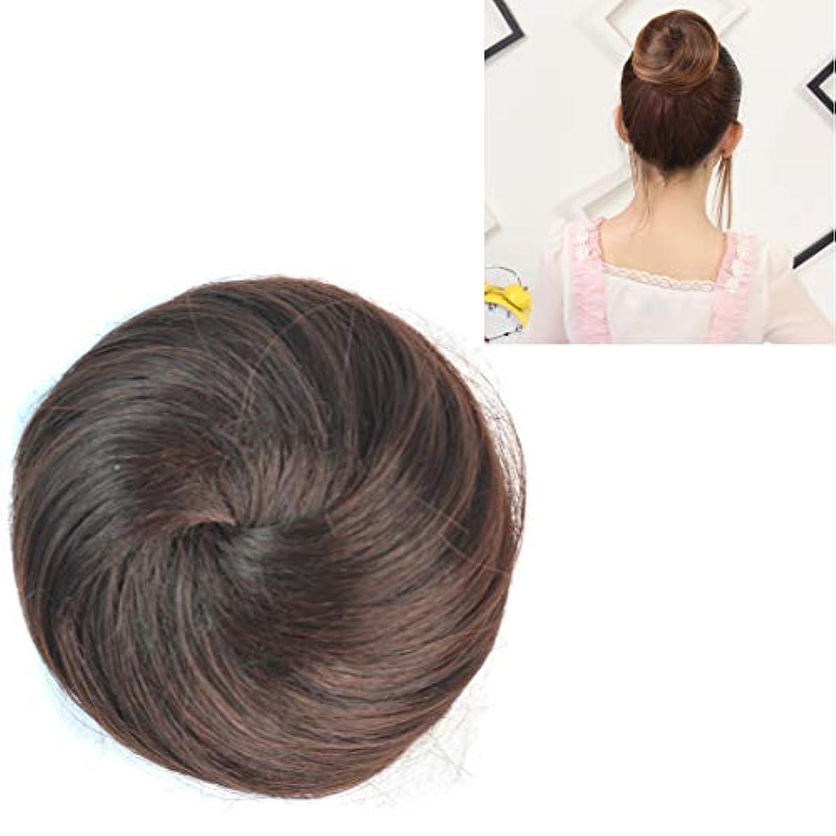 モトリースキーに負ける美しさ かつらの花の形のヘアパッケージヘアディスク ヘア&シェービング (色 : Dark Brown)