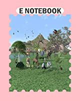 E Notebook: an exotic wild animal scene  College Ruled - 50 sheets, 100 pages - 8 x 10 inches