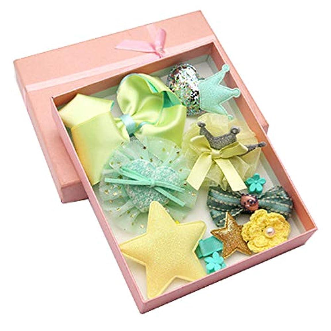 しつけ遊び場会話Lazayyii 子供用ヘアアクセサリー赤ちゃん誕生日ギフト (グリーン)