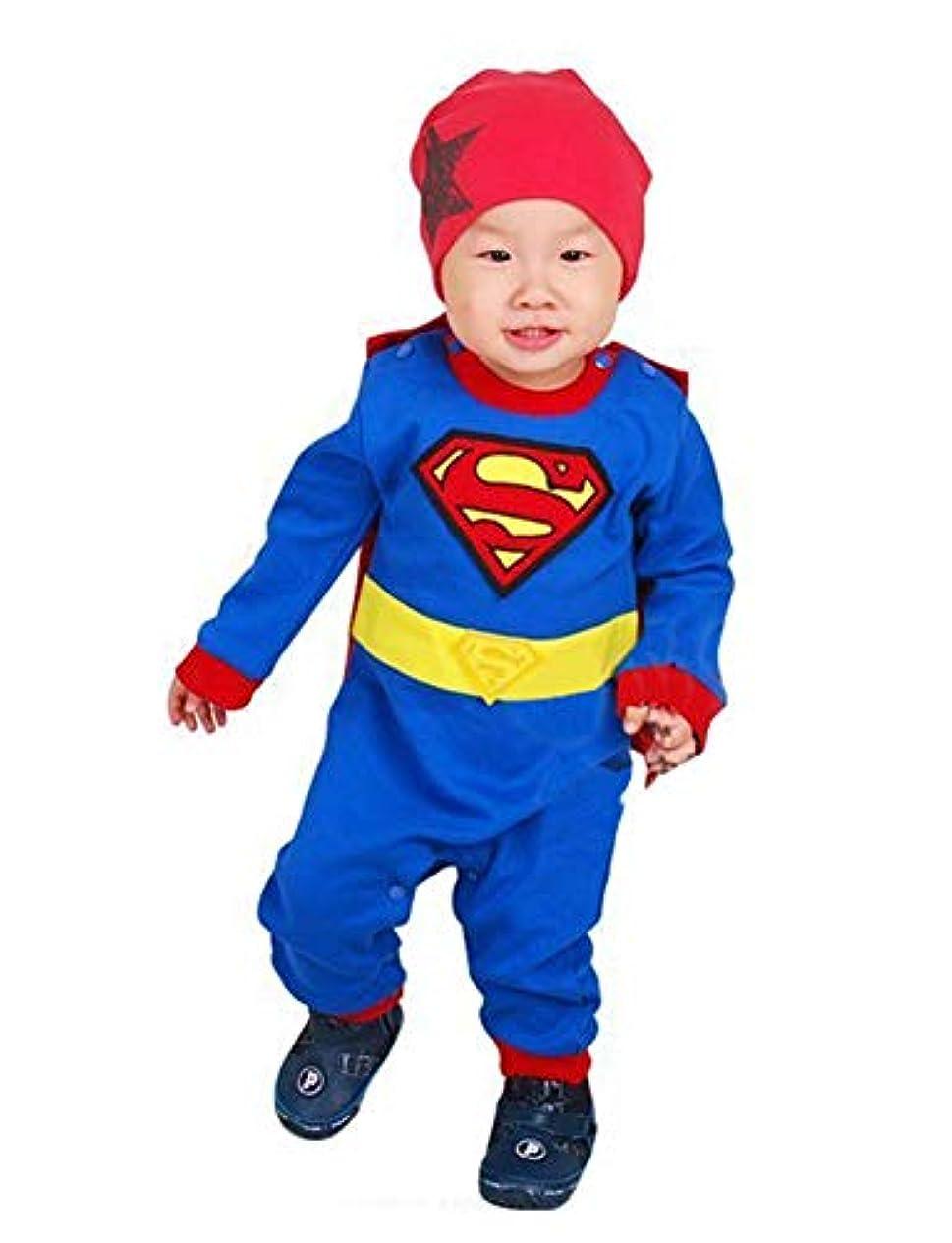 リーガンマンハッタンバンガローベビー ハロウィン 変身 コスチューム ロンパース コスプレ 仮装 衣装 マント キッズ 赤ちゃん 女の子 男の子 子供服 綿 マント付き(取外し可) A8921e (90cm)