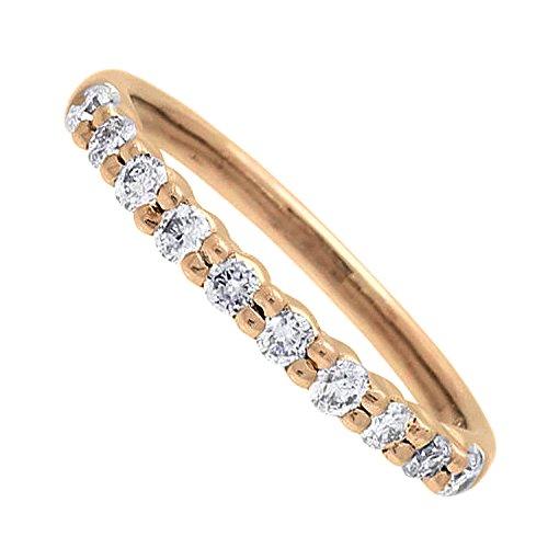 [スイートテンダイヤモンド]Sweet 10 Diamond 正規品 シンプルライン ダイヤモンド リング (ピンクゴールド/18号) PRSD-10019-k18