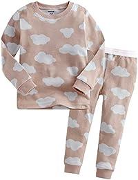 [Vaenait Baby]キッズ12ヶ月-9歳綿100%ルームウェア長袖パジャマ寝間着上下セット Long Cloud(New)