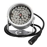 D-drempating セキュリティーライト LED赤外線ライト 30灯 or 48灯 選択 赤外線投光器 監視カメラ 補助照明 (シルバー 48灯)pa303