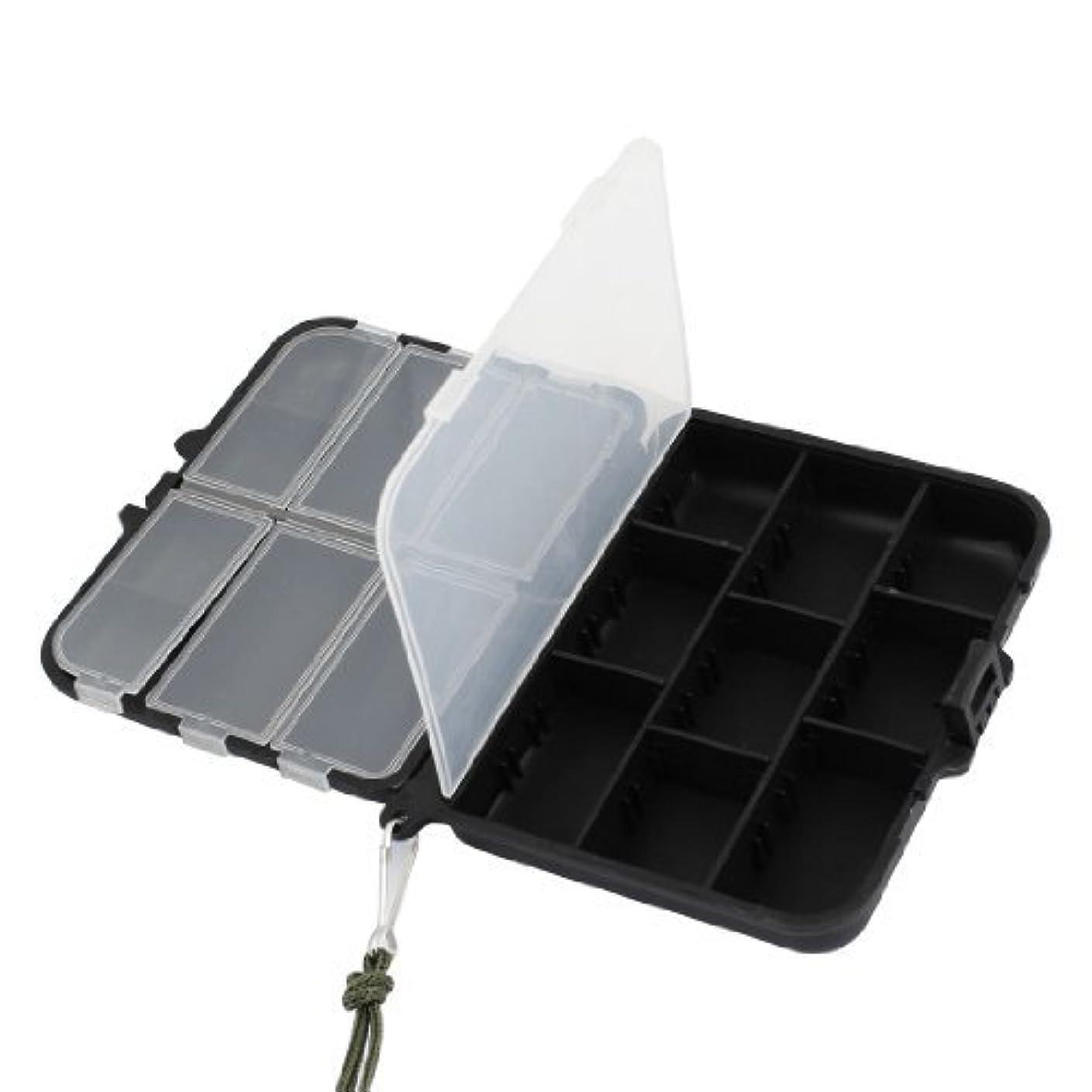 半球知覚的無知ブラック11スロット取り外し可能な釣りのフックベイトルアーボックスケースコンテナ