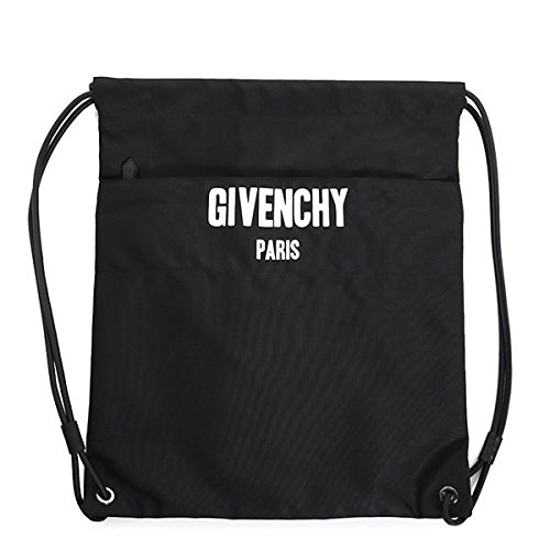 GIVENCHY ジバンシィ メンズ BJ05013167 DRAWSTRING BAG ナイロン ナップサック リュックサック リュック デイバッグ バックパック 巾着 カラー001/ブラック [並行輸入品]