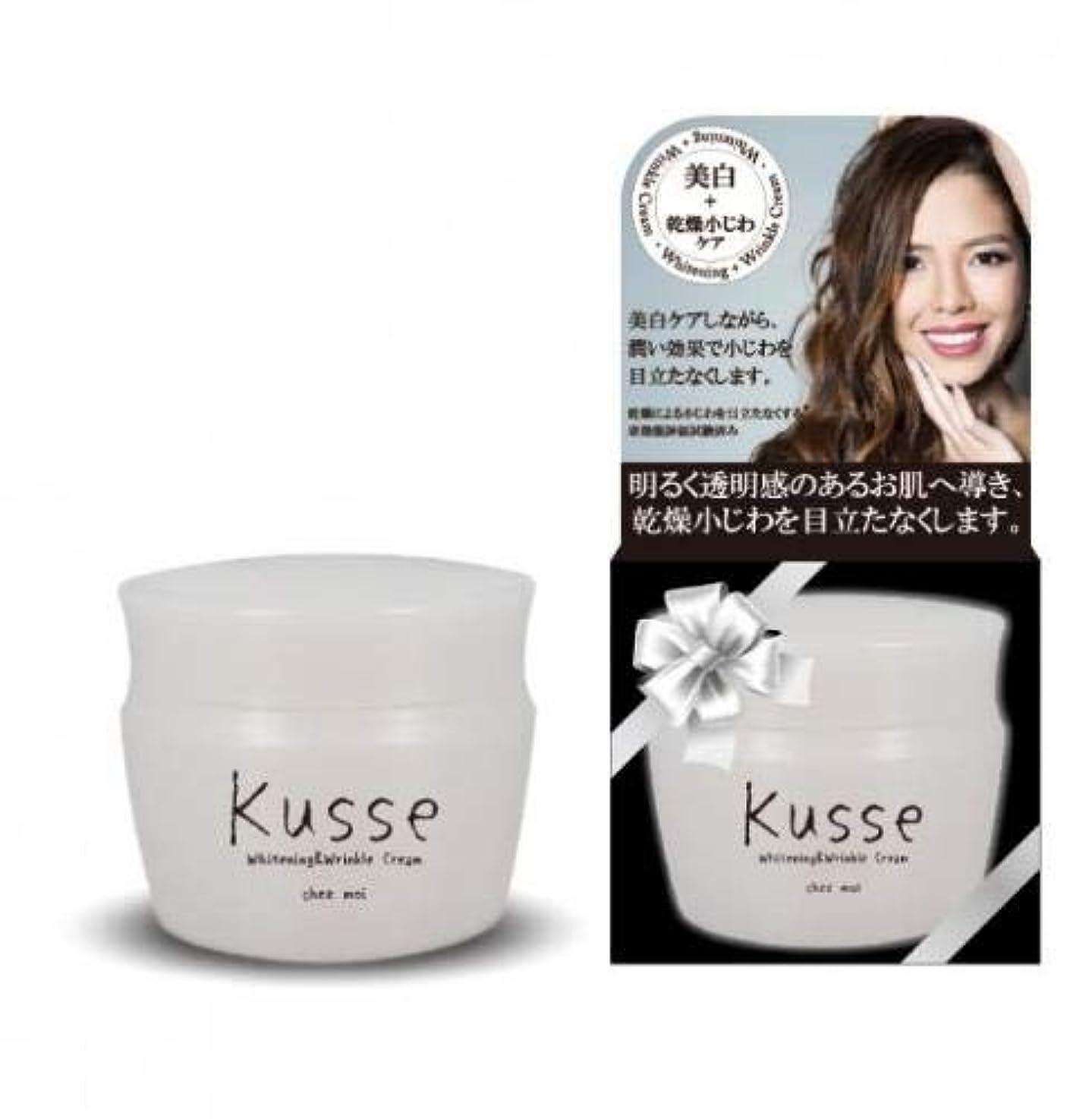 剥離マーチャンダイザー克服するシェモア 薬用 Kusse(キュセ) Whitening&Wrinkle Cream クリーム 30g