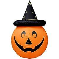 BESTOYARD ハロウィーンの装飾インフレータブルパンプキン帽子とパンプキンの装飾を(フラットプラグ)