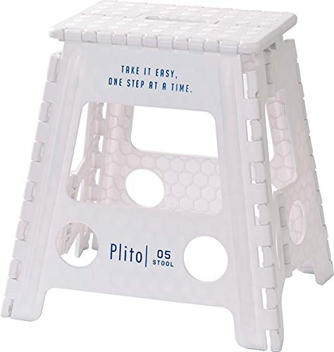 ケーアイ(K-ai) ステップ ホワイト L プリート Plito フォールディング スツール 162261