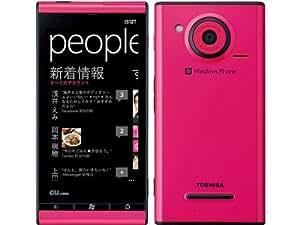 au IS12T Windows Phone (ピンク) マゼンタ白ロム