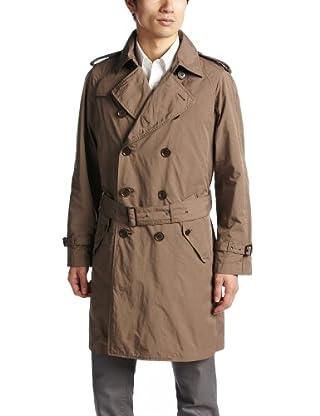 Washed Polyester Nylon Trench Coat 1125-133-4471: Beige