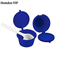 Kitchenware Coffee Filter Capsule Filled Reusable Coffee Shell Stainless Steel Filter Gold Plated Coffee Accessories 3 Pcs : royal blue