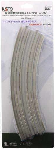 Nゲージ 20-544 複線高架曲線線路 R414/381-45°カント付 (2本入)