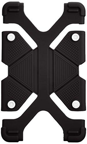 オウルテック 7~8インチタブレット対応 汎用 耐衝撃シリコンケース スタンド機能 ブラック