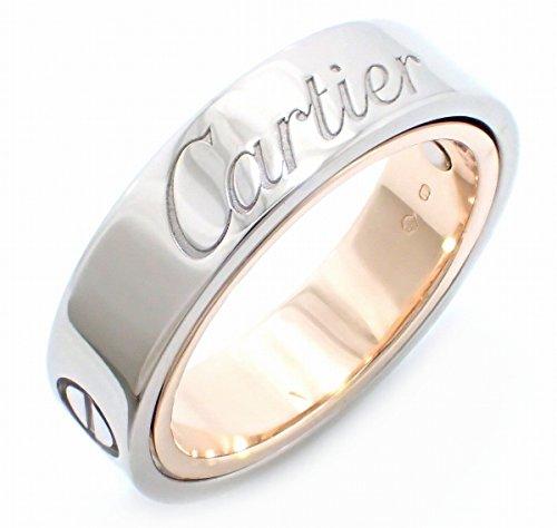 [カルティエ] Cartier ラブリング シークレットラブ リング 指輪 14号 #54 K18 WG PG ホワイト ピンク ゴールド