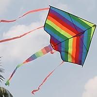 凧 微風で揚がる凧 カラフルカイト 1.2M◆ガンガン上昇!楽しいカイト(凧糸は別売) 並行輸入品