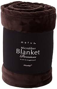 mofua (モフア) 毛布 プレミアムマイクロファイバー シングル ブラウン 50000106