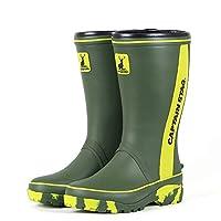[キャプテンスタッグ] 作業靴 長靴 防水 レインブーツ 3E 軽量 ゴム底 CS-2 カーキ (LLサイズ(27.0-27.5cm))