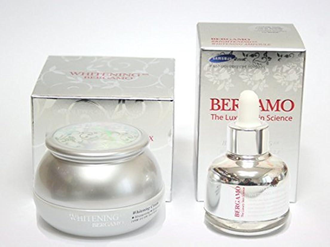 人気バックアップ雇う[BERGAMO] ホワイトニングEXクリーム50ml&ラグジュアリースキンサイエンスブライトニングEXホワイトニングアンプル30ml/韓国化粧品/Whitening Ex Cream 50ml & Luxury Skin Science Brightening Ex Whitening Ampoule 30ml/Korean Cosmetics [並行輸入品]