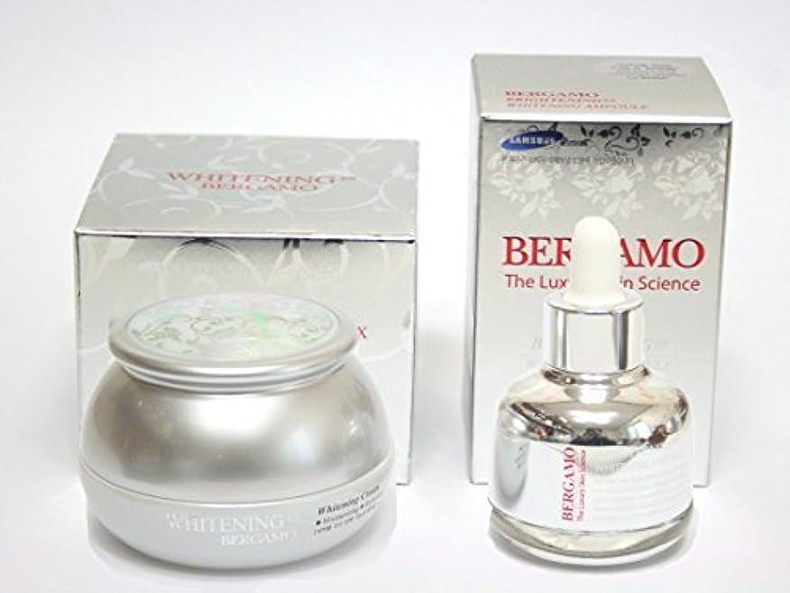 [BERGAMO] ホワイトニングEXクリーム50ml&ラグジュアリースキンサイエンスブライトニングEXホワイトニングアンプル30ml/韓国化粧品/Whitening Ex Cream 50ml & Luxury Skin...