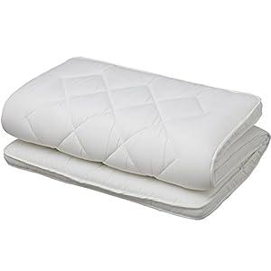 敷布団 3層 バランス敷布団 日本製 マチ付 固綿 シングル ホワイト