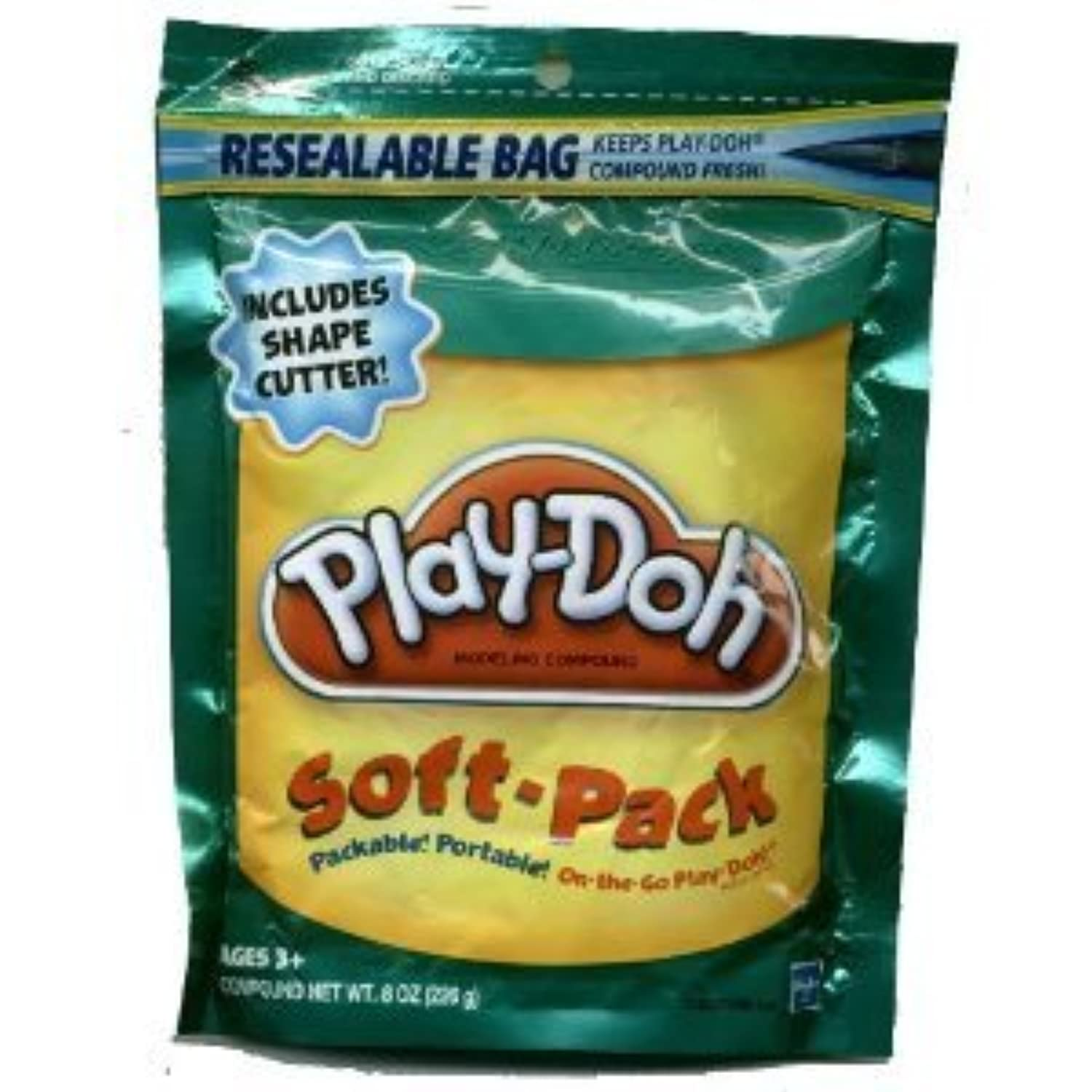 Play-Doh Soft Pack and 1 Shape Cutter - Teal [並行輸入品]