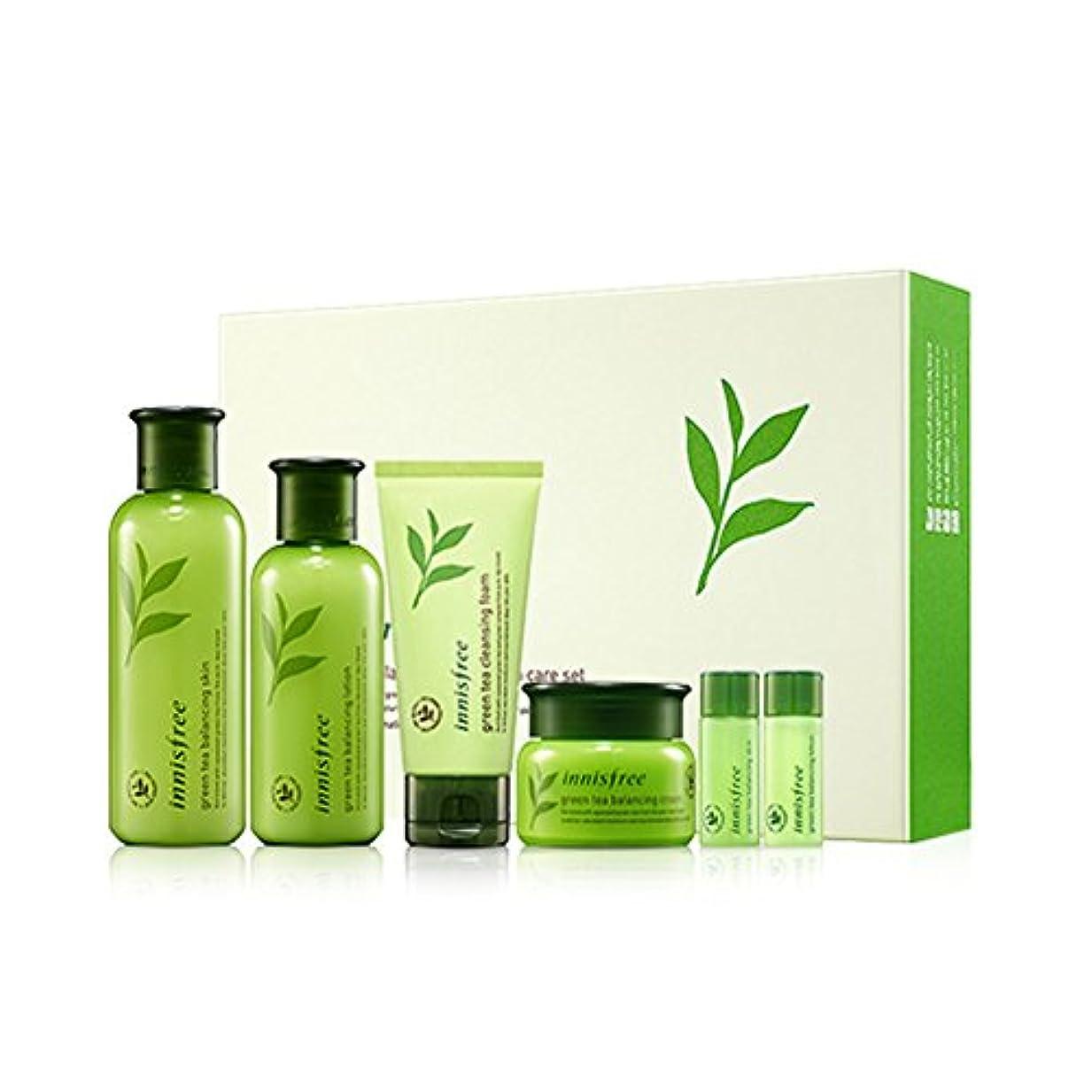 ミュウミュウ強制的撤回する[イニスフリー]Innisfreeグリーンティーバランシングスペシャルスキンケア(スキン200ml +ローション160ml +クリーム50ml)セットInnisfree Green Tea Balancing Special Skin Care Set[海外直送品]