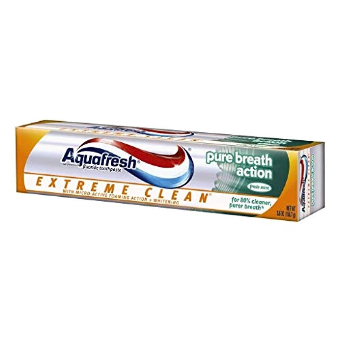 Aqua Fresh アクアフレッシュエクストリームクリーンピュアブレスアクション、フレッシュミント、5.6オンス、4パック