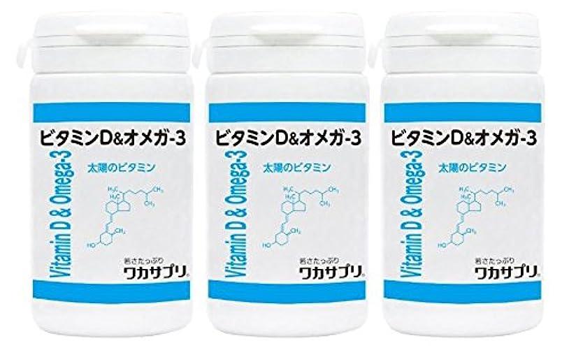 ワカサプリ ビタミン&オメガ-3 60粒 × 3個