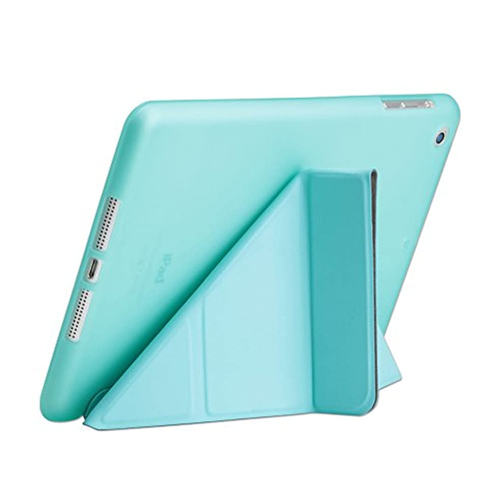 あからさま国歌共産主義者iPad Mini 2/3 Folio Case, DIGIC Multi-fold Stand Holder Flip Origami iPad Tablet Protector Cover Leather Carrying Case with Smart Auto Sleep/Wake for Apple iPad Mini 2/3,tiffany blue