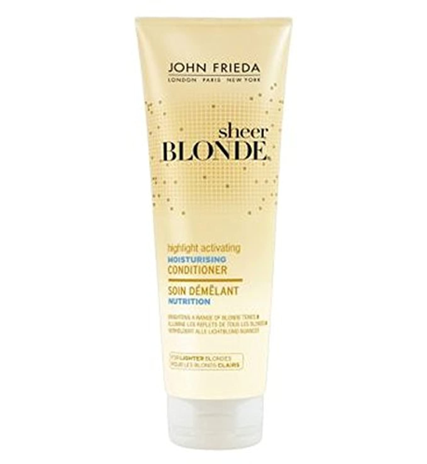お客様導出バーマドJohn Frieda Sheer Blonde Highlight Activating Moisturising Conditioner for Lighter Blondes 250ml - 軽いブロンド250ミリリットル...