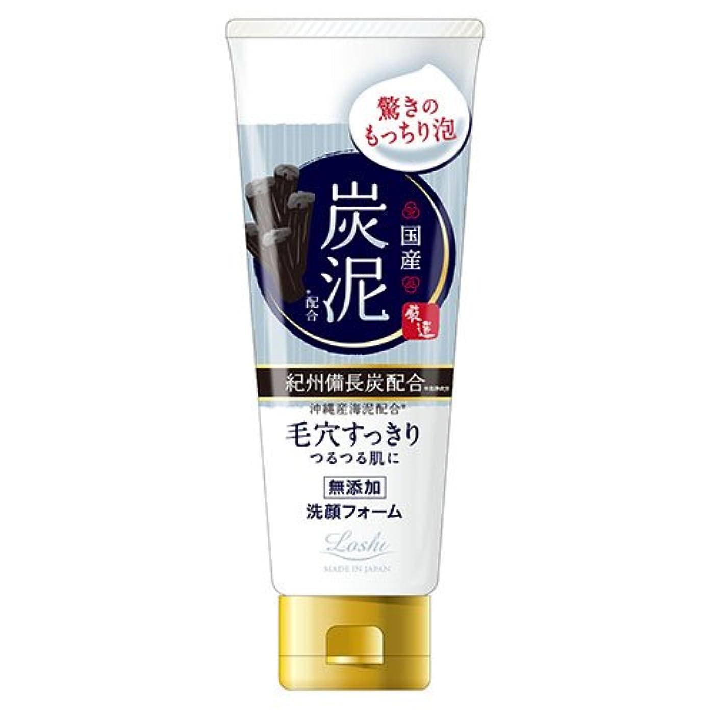 必要条件十分神社ロッシモイストエイド 国産 ホイップ洗顔 炭泥 120g