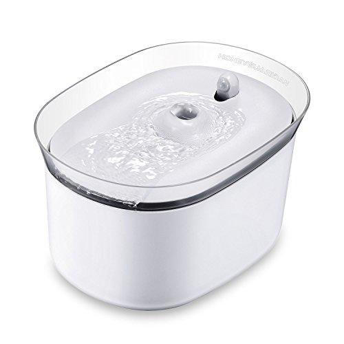 HoneyGuaridan W25 ペットファウンテン 2.5L大容量 赤外線付きスマート 自動ペット給水機 犬、猫水やり猫水...