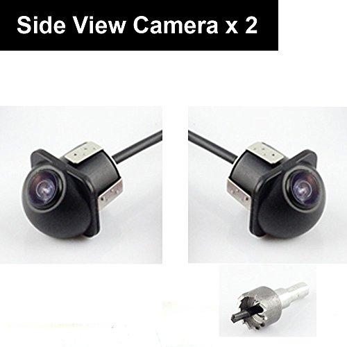 車載サイドカメラ 2個入り高画質超小型 埋込型 角度調整 鏡像 側のバックカメラ ガイドライン無 ホ...