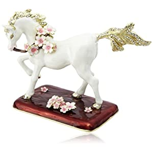 [ピィアース] PIEARTH 白馬の置物桜馬 EX500-1