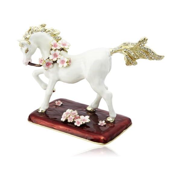 [ピィアース] PIEARTH 白馬の置物桜馬 ...の商品画像