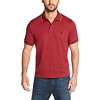 Nautica Men's Classic Fit Short Sleeve Dual Tipped Collar Polo Shirt