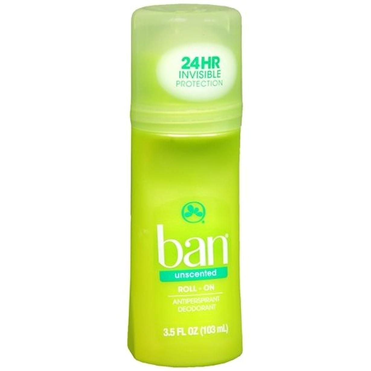 暴動座る王朝海外直送品 【2個セット】Ban Roll-On Unscented Antiperspirant & Deodorant - 3.5 fl oz (103 ml) 無香タイプ